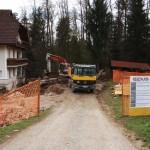 Ožja okolica se je spremenila v eno samo gradbišče.