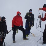 Zimska tehnika v megli in sneženju