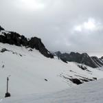 Prečka proti vznožju ledenika – vreme pa kislo kot limona